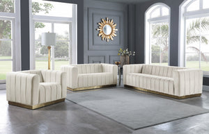 Melvin Velvet Living Room Collection in 7 Color Options