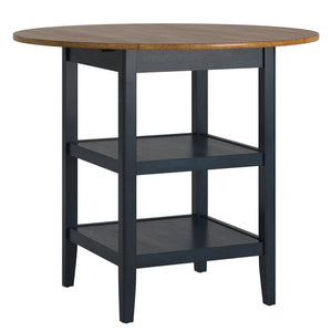 Antique Drop Leaf Counter Height Table in 7 Color Options