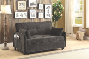 Dark Brown Twill Fabric Sofa Sleeper