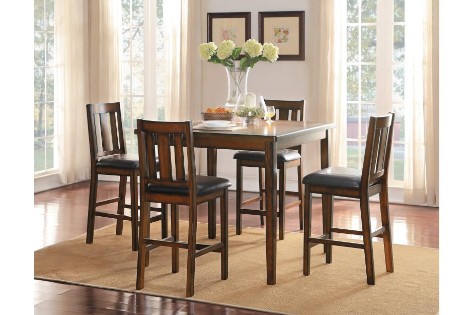 Delaware 5 Piece Counter Height Set