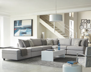 Charlotte Grey Fabric Modular Sectional