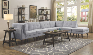 Chelsea Grey Tufted Modular Sectional