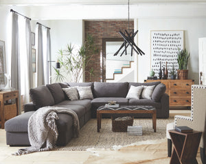 Rene Fabric Modular Sectional in Beige or Charcoal