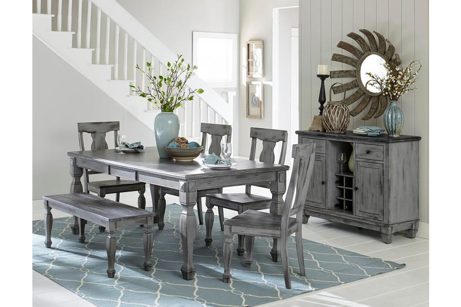 Brian Rustic Dining Room Collection with Optional Bench