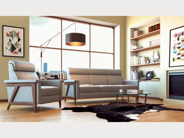Moroni Harvard Mid Century Leather Living Room Collection