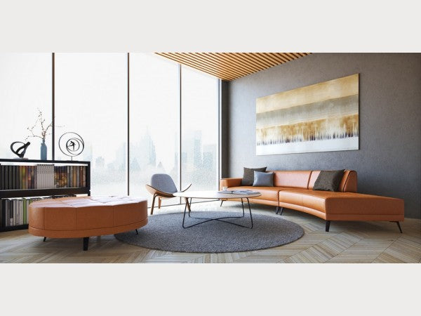 Casablanca Contemporary Leather Sectional
