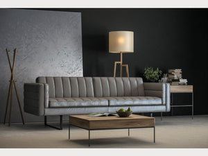 Orson Grey Leather Living Room Collection