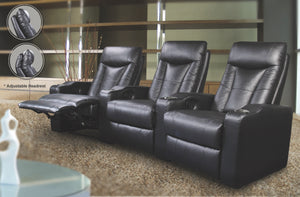 Pablo Black Home Theater Collection
