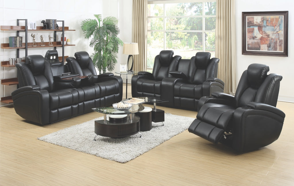 Delaine Black Power Reclining Living Room Collection