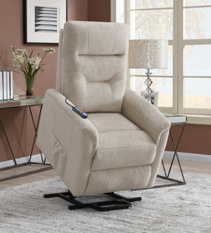 Power Lift Recliner Chair in Brown or Beige Fabric