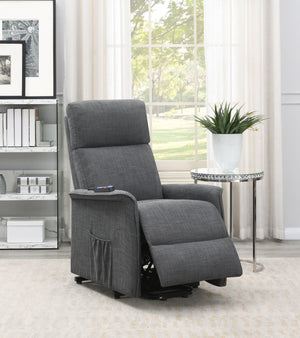 Power Lift Recliner Chair in Charcoal or Beige Fabric