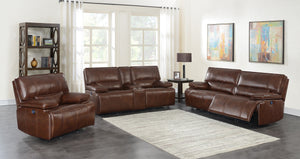 Saddle Brown Power Reclining Living Room Collection