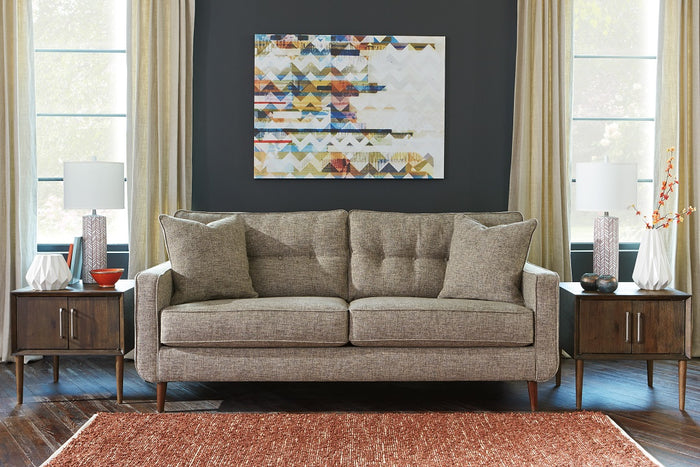 Dara Mid Century Tufted Fabric Living Room Collection