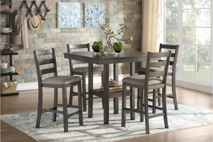 Shay Grey 5 Piece Counter Height Set