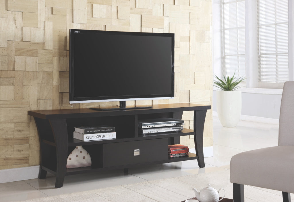 "Cappuccino 60"" TV Stand with Tapered Legs"