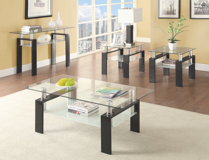 Floating Glass Top Occasional Table Collection