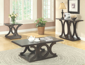 Racine Contemporary Coffee Table in Dark Espresso Finish