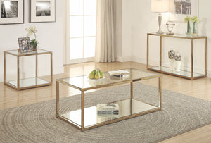 Steve Chocolate Chrome Occasional Table Collection