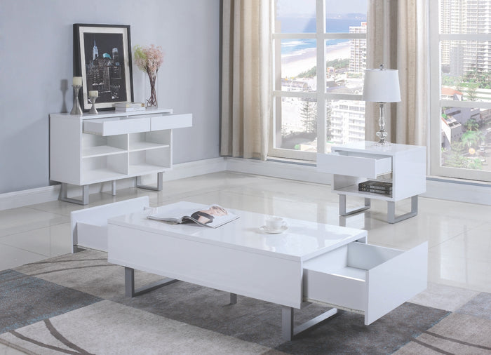 Kim White Storage Occasional Table Collection