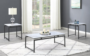 Faux Marble 3 Piece Occasional Tables Set