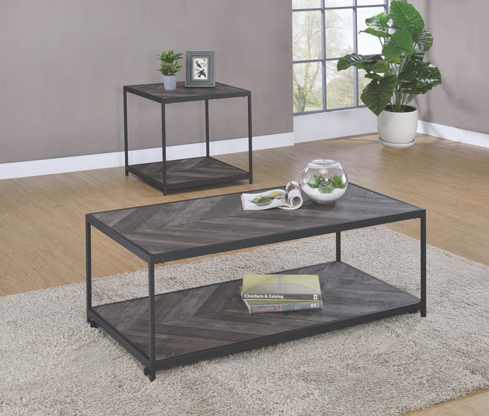 Chevron Pattern Occasional Table Collection