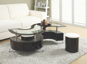 Serpentine Shaped Storage Coffee Table