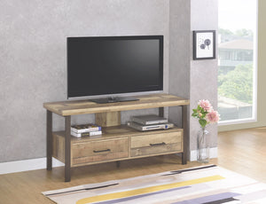 Weathered Pine TV Stand with Black Legs in 3 Sizes