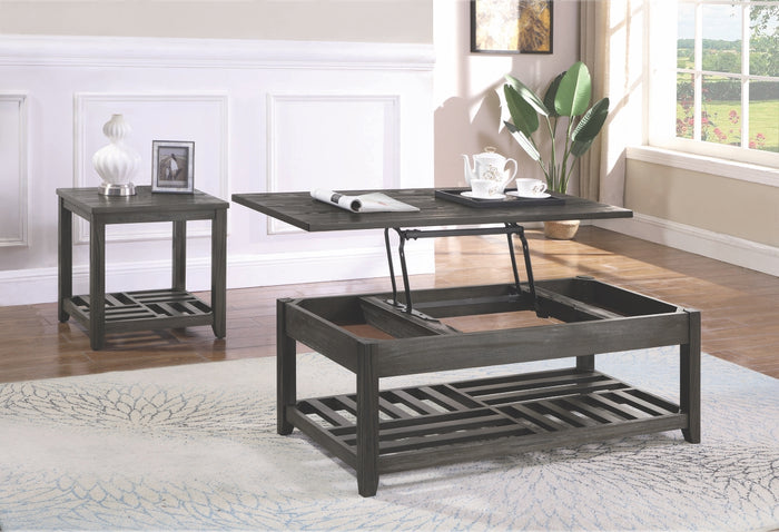 Bryce Grey Lift Top Storage Occasional Tables Collection