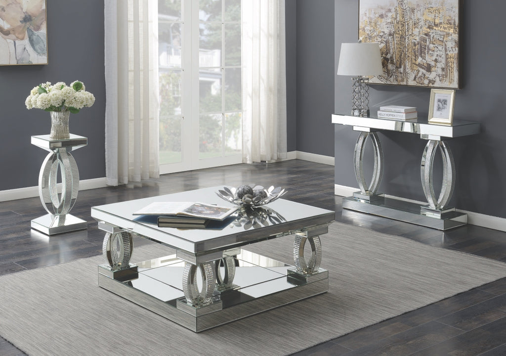 Vina Mirrored Occasional Tables Collection