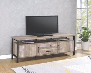 Weathered Oak TV Stand with Black Legs in 2 Sizes