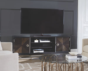 Clarissa TV Stand with Rose Brass Hardware