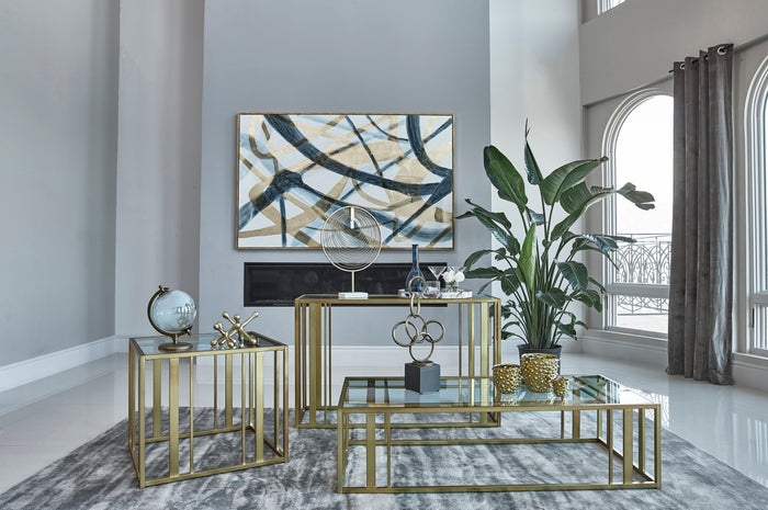 Contemporary Matte Brass Occasional Collection