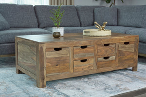 Natural Sheesham Storage Coffee Table