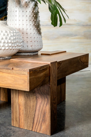 Rustic Square Block Coffee Table