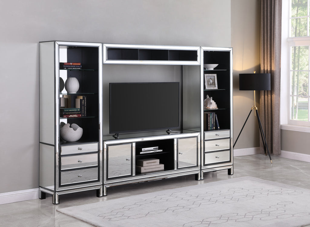 Modern Mirrored Entertainment Center