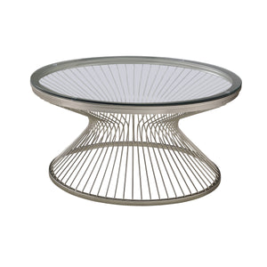 Hourgalss Pedestal Base Occasional Table Collection
