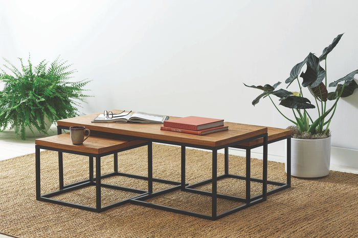 Rustic Nesting 3 Piece Occasional Tables Set