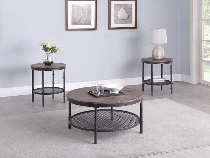 Industrial 3 Piece Occasional Tables Set
