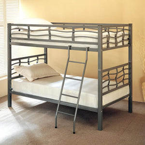 Twin Metal Bunk Bed with Ladder