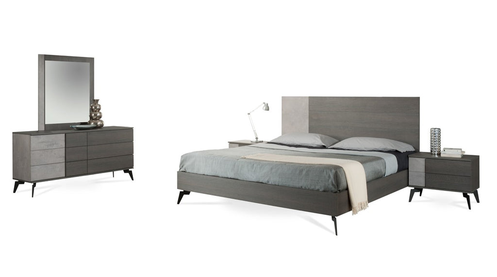 Paige Modern Concrete & Grey Platform Bedroom Collection