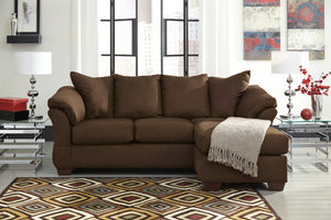 Darby Fabric Sofa Chaise in 8 Color Options