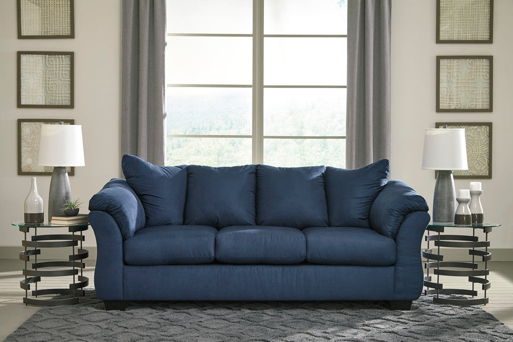 Darby Fabric Sofa with Optional Full Size Sleeper in 8 Color Options