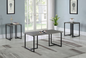 Weathered Grey 3 Piece Occasional Tables Set