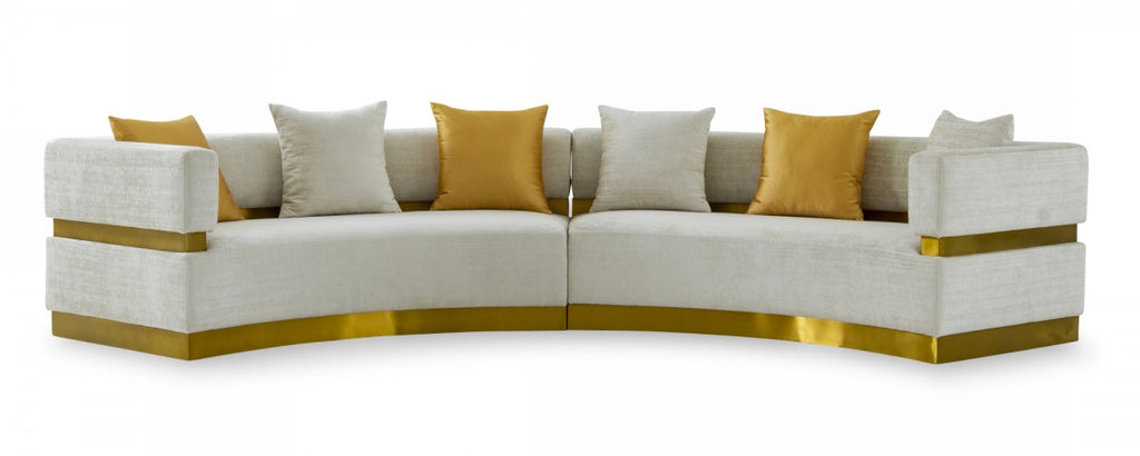 Kia Glam Beige Curved Sectional
