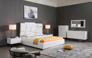 Christina Modern Bedroom Collection in White or Grey