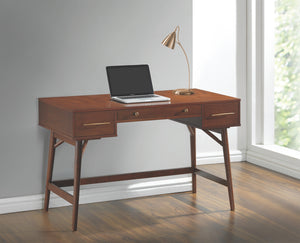 Mid Century Writing Desk in Walnut or White