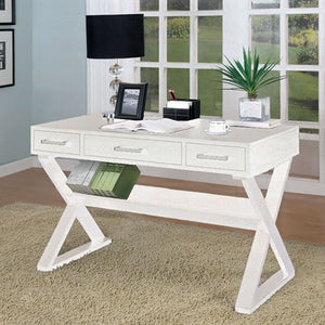 White Retro Writing Desk