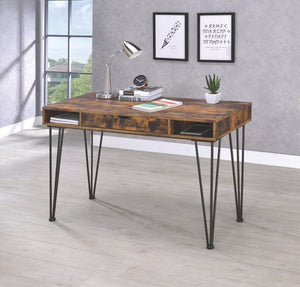 Industrial Antique Writing Desk with Storage Drawer