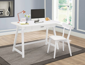 White Writing Desk and Chair Set