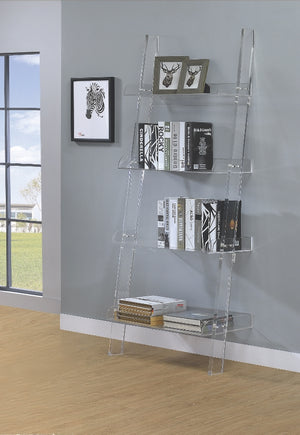 Armando Acrylic Ladder Bookcase